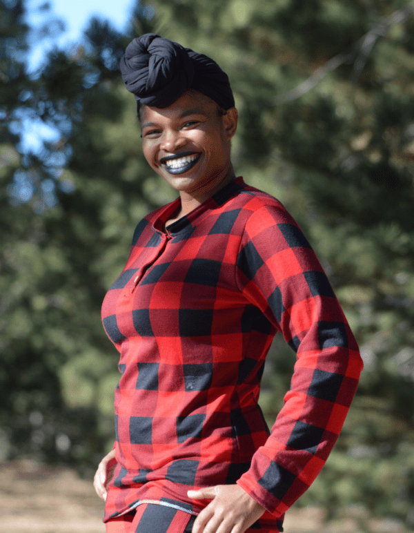 henley pdf pattern in red and black plaid